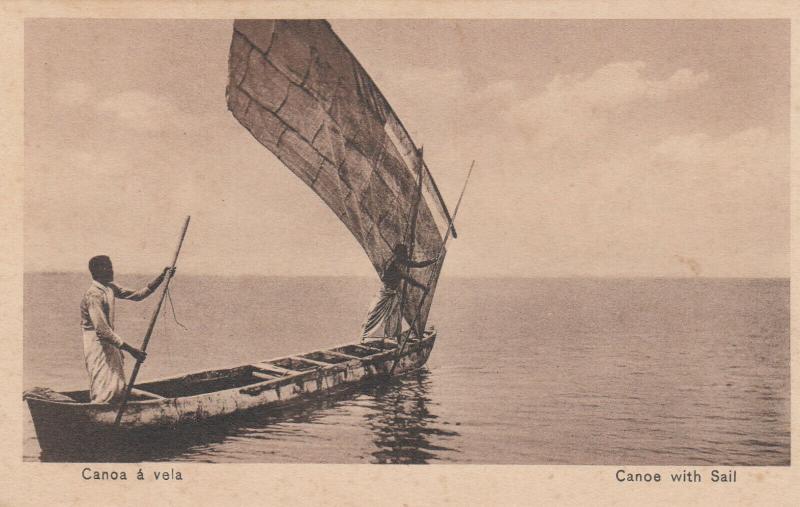 ANGOLA , Africa , 1900-10s ; Canoa with Sail