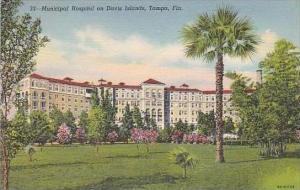 Florida Tampa Municipal Hospital on Davis Islands Curteich