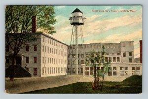 Milford MA, Regal Shoe's Co. Factory, Vintage Massachusetts c1909 Postcard