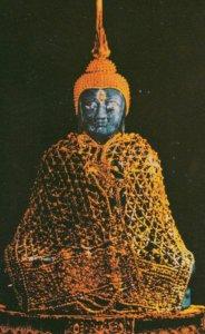 BANGKOK, Thailand, 1940-60s; Emerald Buddha in Winter Season Suit, Wat Phar K...