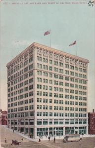 Washington Seattle American Savings Bank and Trust Company 1909