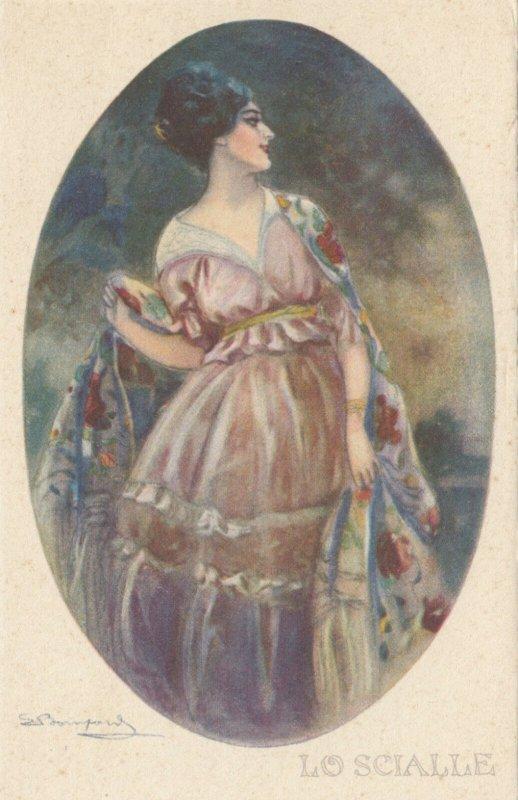Art Deco ; BOMPARD ; Fashion Woman Portrait #5 , 1910-20s