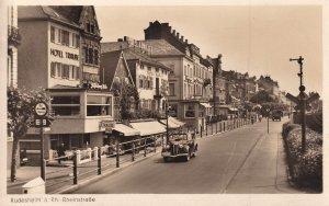 Rudesheim Hotel Traube Vintage Real Photo German Postcard