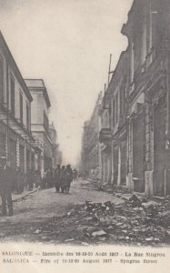 SALONIQUE, Greece, 1917; Destruction from Fire, Syngros Street