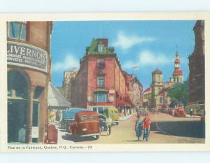 Unused 1940's STREET SCENE Quebec City Quebec QC W1695
