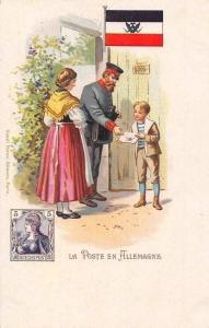 La Poste en Allemagne, Germany German Postmen Chromo Postcard