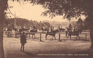 Horseback Riding Ogontz White Mountain Camp Lisbon New Hampshire Artvue