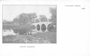 Stone Bridge Concord, Massachusetts Postcard