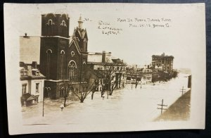 Mint USA RPPC Postcard Dayton Ohio Main Street North During Flood 1913