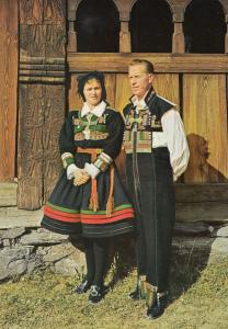 National Costume For Setesdal Norge Norway Vintage Fashion Postcard