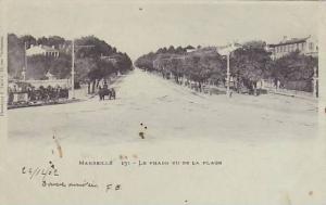 MARSEILLE< Le prado vu de la plage, Provence-Alpes-Cote d'Azur,  France, 10-20s
