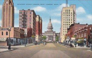 Michigan Lansing Michigan Avenue Looking West