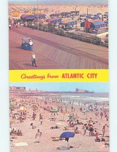 Unused Pre-1980 TWO VIEWS ON CARD Atlantic City New Jersey NJ ho7483