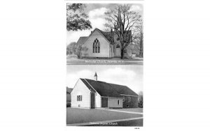 Methodist Church Delevan, New York Postcard
