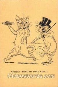 Artist Louis Wain Cat Unused very light wear, light internal indentation towa...