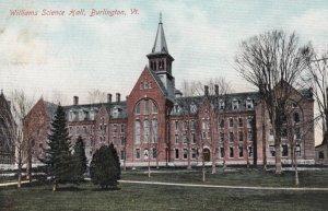 BURLINGTON, Vermont, 1900-10s; Williams Science Hall