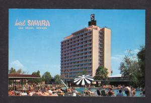 NV Sahara Hotel Casino LAS VEGAS NEVADA Gambling Pool Postcard Carte Postale
