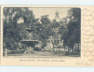 Pre-1907 BREWER FOUNTAIN Boston Massachusetts MA hp9592