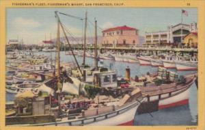 California San Francisco Fisherman's Fleet Fisherman's Wharf
