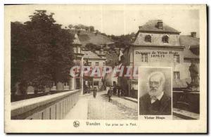 Old Postcard Vianden Vue Prize On the Victor Hugo Bridge