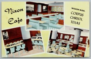 Corpus Christi Texas~Nixon Cafe~Baby Blue Booths & Lunch Counter Stools~1950s