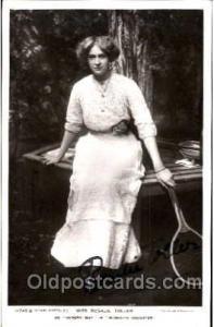 Miss Rosalie Toller Autographed, Tennis Postcard Postcards  Miss Rosalie Toller