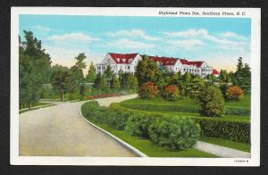 Driveway View Highland Pines Inn Southern Pines North Carolina Unused c1920s