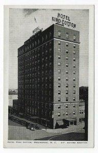 Greensboro, North Carolina  Vintage Postcard View of Hotel King Cotton