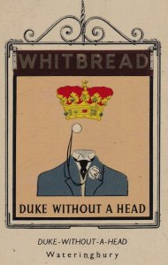 Duke Without A Head Wateringbury Maidstone Kent Metal Pub Sign Advertising Ep...