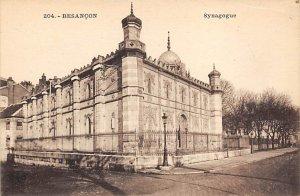 Judaic, Jewish Synagogue Post Card Synagogue, Fleschmanns Besancon Unused