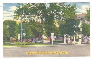 Library and Park, Northumberland, Pennsylvania, 1930-40s