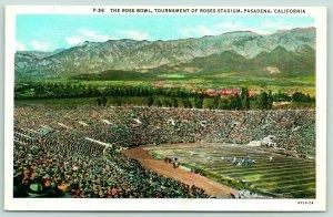 Pasadena California~Tournament of Roses Stadium-Rose Bowl~Game Day-Football~'20s