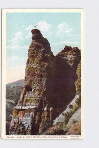 ANTIQUE POSTCARD NATIONAL STATE PARK YELLOWSTONE EAGLE NEST ROCK #2