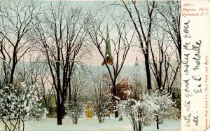 NY - Syracuse. Fayette Park Winter Scene