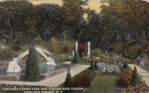 New York Saratoga Springs Casino Park and Italian Rose Garden 1912