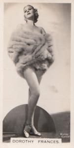 Dorothy Frances Hollywood Actress Rare Real Photo Cigarette Card