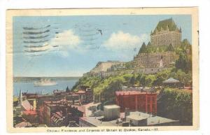 Chateau Frontenac and Empress Of Britain At Quebec, Canada, PU-1939