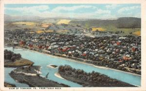 Towanda Pennsylvania Birdseye View Of City Antique Postcard K29667