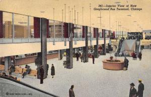 Chicago Illinois interior Greyhound Bus Terminal antique pc Y13100
