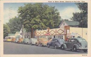Ohio Geneva On The Lake Main Street 1953