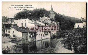 Old Postcard The Pyreness lllustrees Saint Jean Pied de Port Nive and Citadel