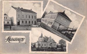 MORAVANY BRNO DISTRICT CZECHOSLOVAKIA MULTI IMAGE PHOTO POSTCARD
