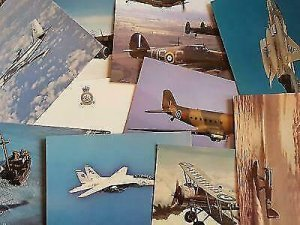 NEW Pack of 20 Aircraft Postcards Ideal for Postcrossing, all different