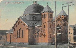 F80/ Chicago Ohio Postcard 1910 Catholic Church Building
