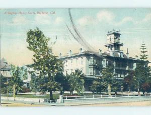 Divided-Back HOTEL SCENE Santa Barbara California CA H1471