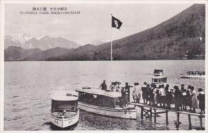 Japan Tour Boats At Dock National Park Nikko Chuzenji