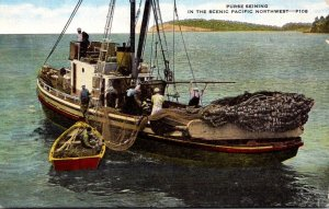 Fishing Purse Seiner In The Scenic Pacific Northwest