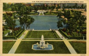 OH - Cleveland. Fine Arts Museum, Gardens & Lake