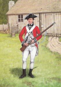 Private Scots Scottish Guard American 1777 Military Uniform Postcard