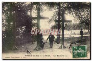 Old Postcard Norte Dame des Anges The Three Crosses